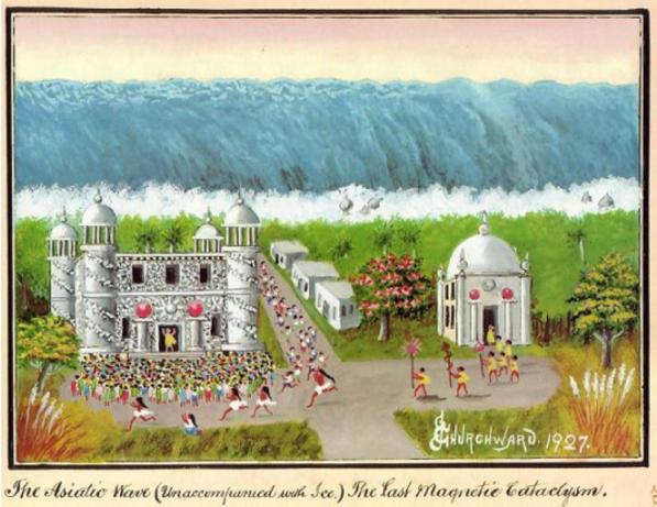Churchward The Asiatic Wave (Unaccompanied with Ice) Massive wall