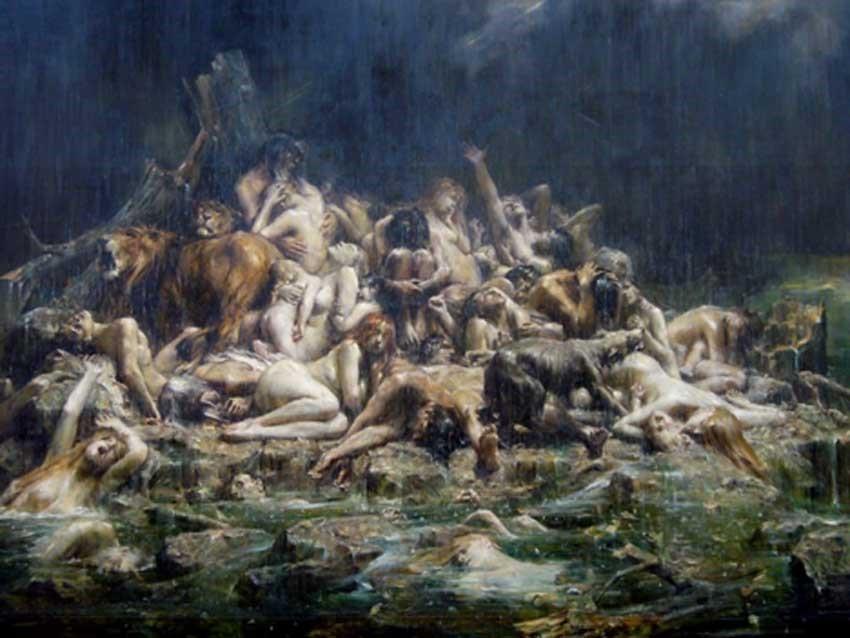Le deluge de Noe et les compagnons by Comerre 1911 public domain