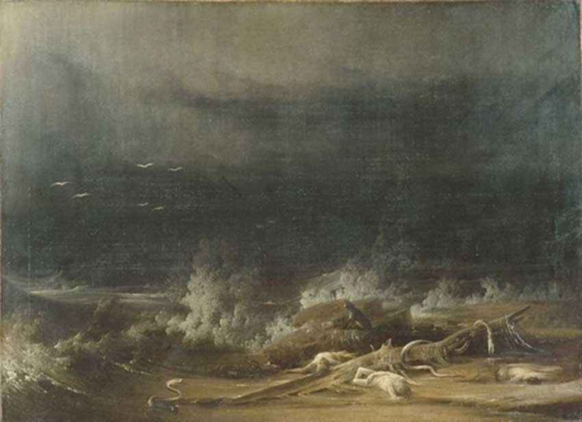 The Deluge towards its close Shaw 1813 public domain
