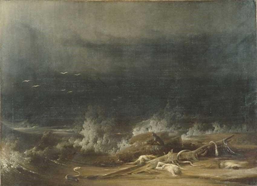 The Deluge towards its close Shaw 1813 public domain