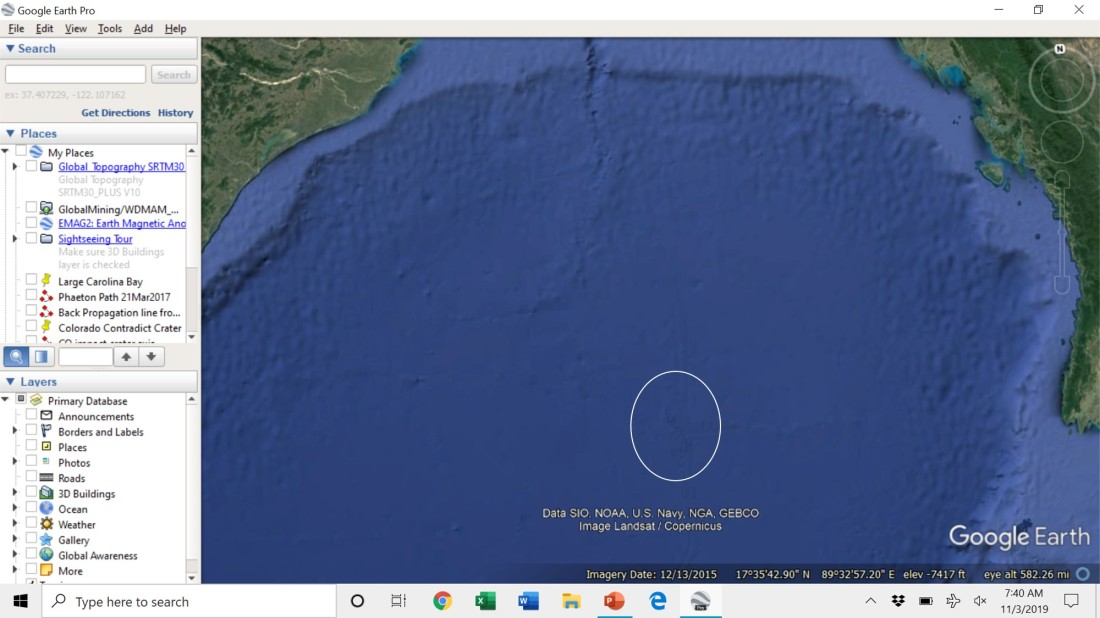 Figure 2 Bay of Bengal closer view with circled feature