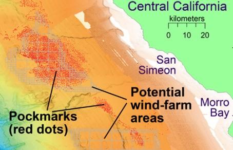 MBARI impact locations off CA coast 27Dec2019